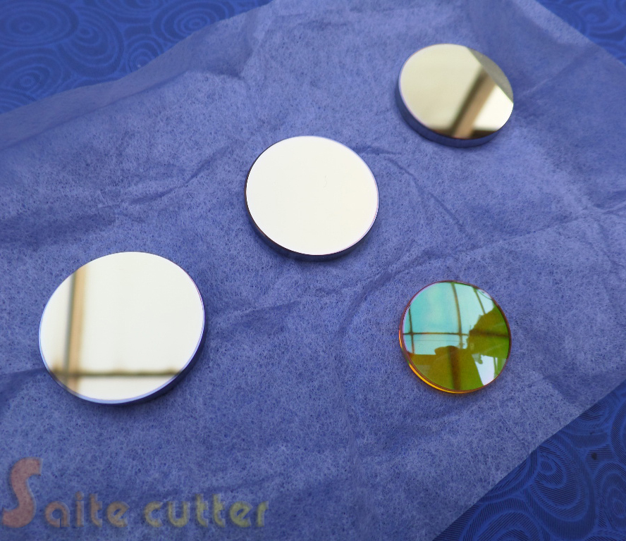 3 pcs Dia 25mm Si Reflective Mirror + 1 pc Znse Focus Lens Dia 20 Focal 50.8mm for Co2 lente Laser Engraving Cutter