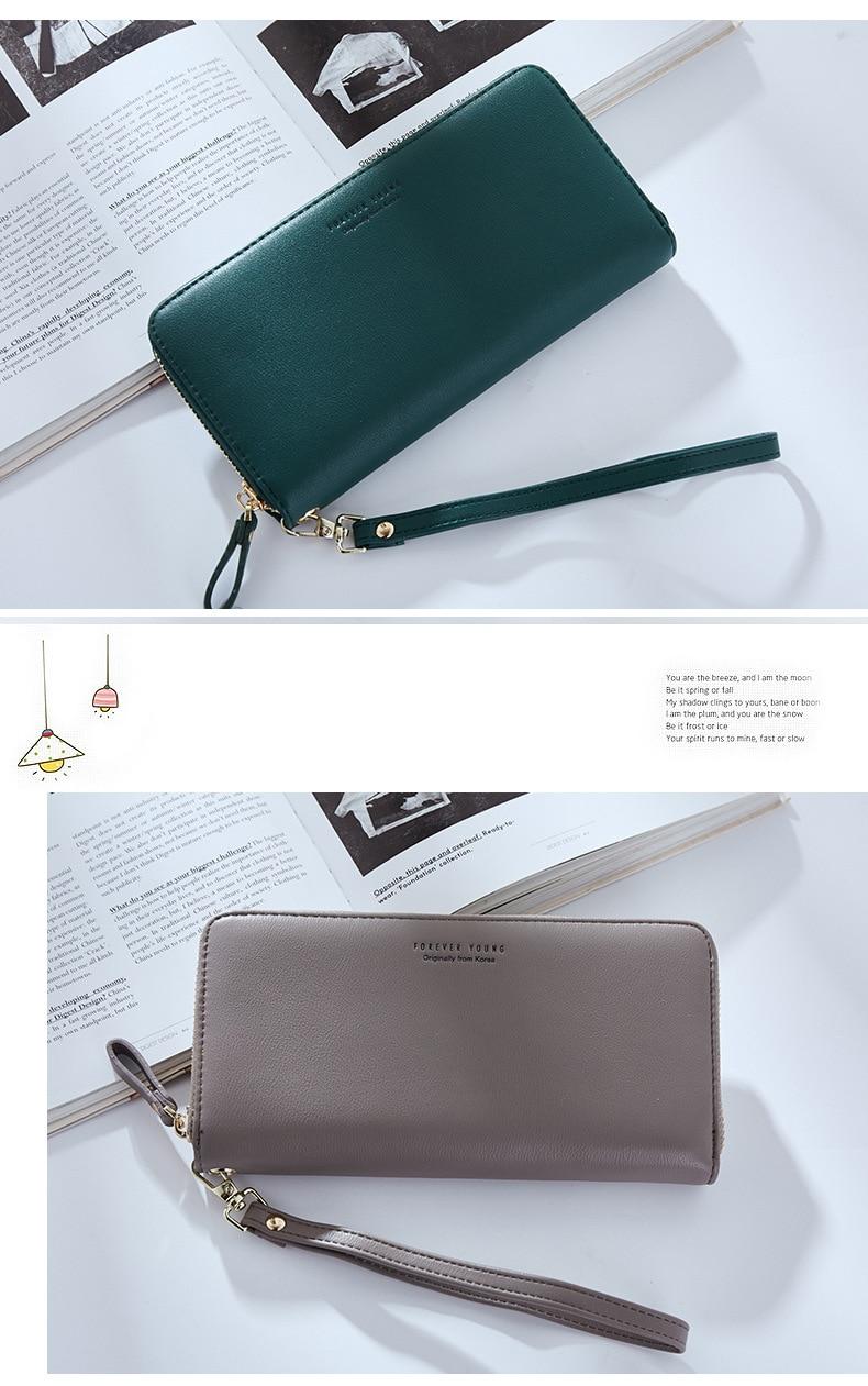 Women Long Clutch Wallet Large Capacity Wallets Female Purse Lady Purses Phone Pocket Card Holder Carteras 24
