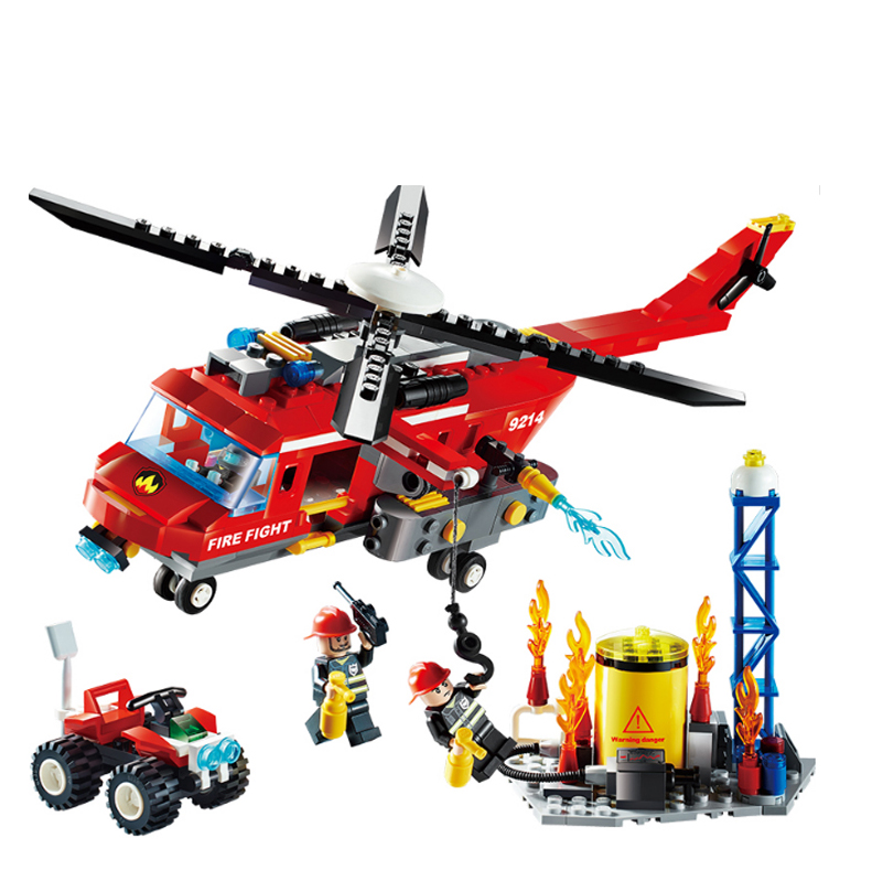 GUDI Helicopters Action Figure Block Fire Rescue Series Building Model Set Bricks 2017 Assemblage Gifts Children DIY Toys gudi 4 in 1 military soldier model building blocks toys for children army firewire swat action figure diy bricks gift 237pcs set