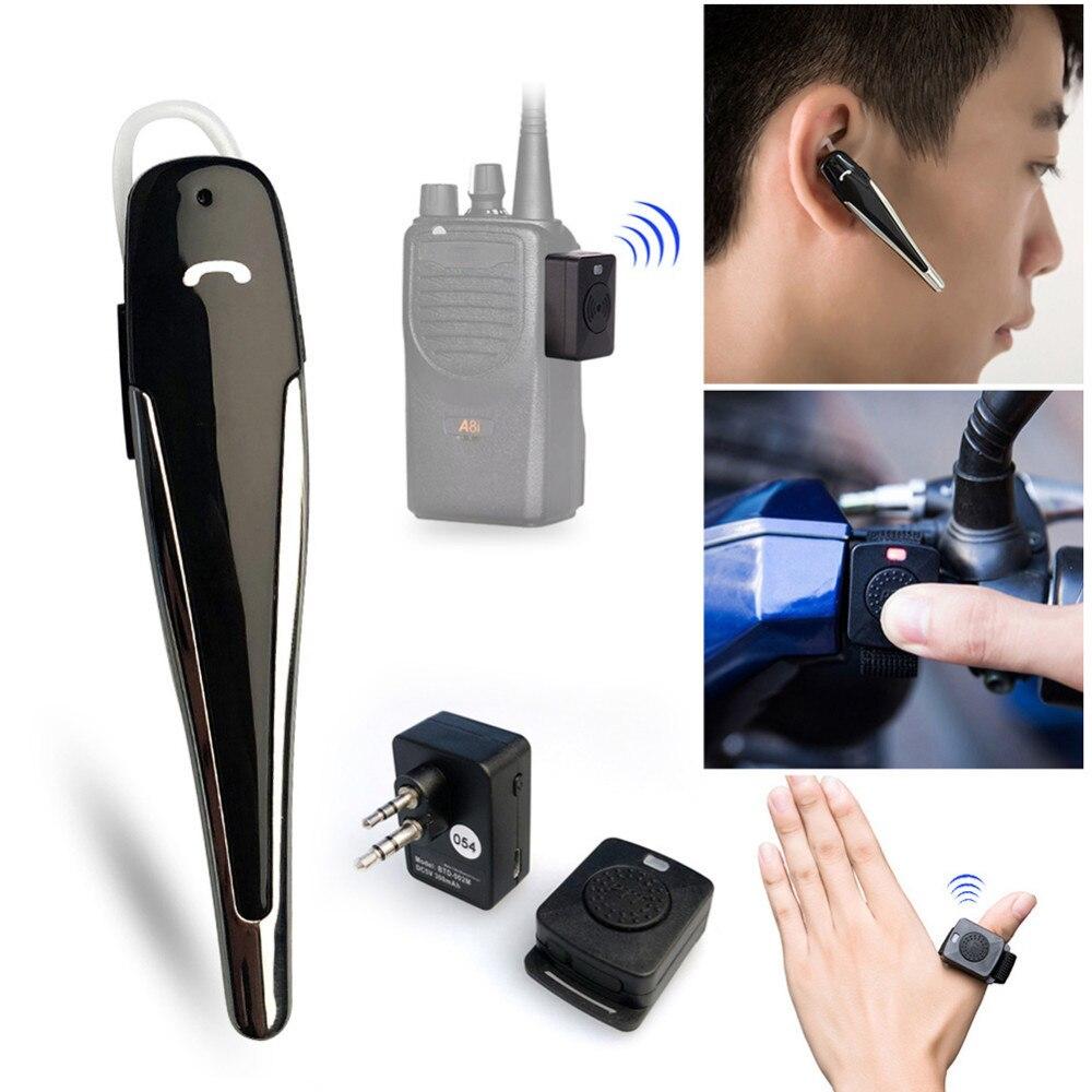 M Tête 2-CH Sans Fil Bluetooth Moto HF PTT Écouteur pour Motorola GP88 A81