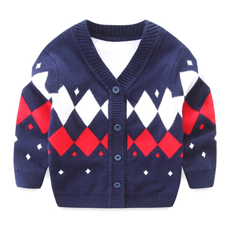 Plaid Baby Boys Sweaters Long Sleeve Newborn Sweaters Knitted Cotton Baby Cardigan Sweater 2017 Autumn Winter Baby Boys Clothing (20)