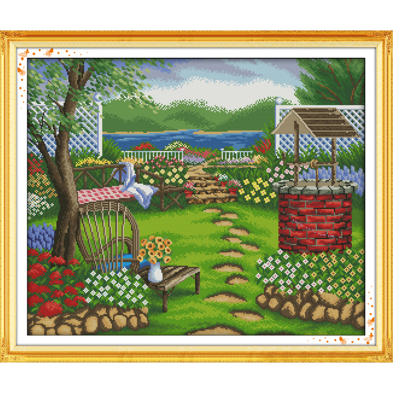 Everlasting love Spring Chinese cross stitch kits Ecological cotton stamped printed 11 CT 14 CT DIY Christmas decorations gift in Package from Home Garden