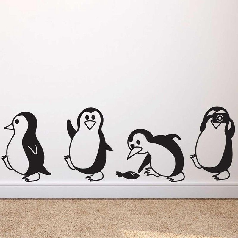 Diy Removable Penguin Wall Stickers Kids Nursery Home Decorative Decal Baby Room Vinyl Wall Decals Cute Animal Art Murals Z836 Wall Stickers Aliexpress