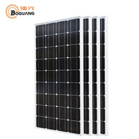 Boguang 4*100w solar panel Silicon Monocrystalline silicon cell Grid System 12v24v 1175*530*25mm Size Top battery China RU stock