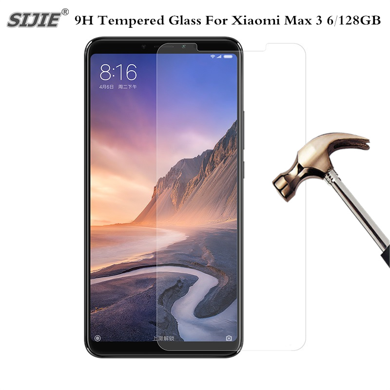 9H Tempered Glass For Original <font><b>Xiaomi</b></font> <font><b>Mi</b></font> <font><b>Max</b></font> <font><b>3</b></font> 6GB RAM <font><b>128GB</b></font> ROM Mobile Phone Snapdragon 636 Screen Protector Film on Toughened image