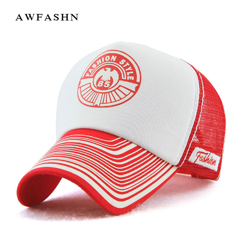 Mesh baseball caps 85 letter printing sun hat men women unisex summer snapback hats gorras sports bone cotton shades solid badge