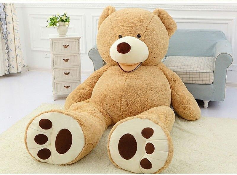 Cheap 340CM huge giant stuffed teddy bear big large huge brown plush soft toy kid children doll girl Birthday Christmas gift - 4