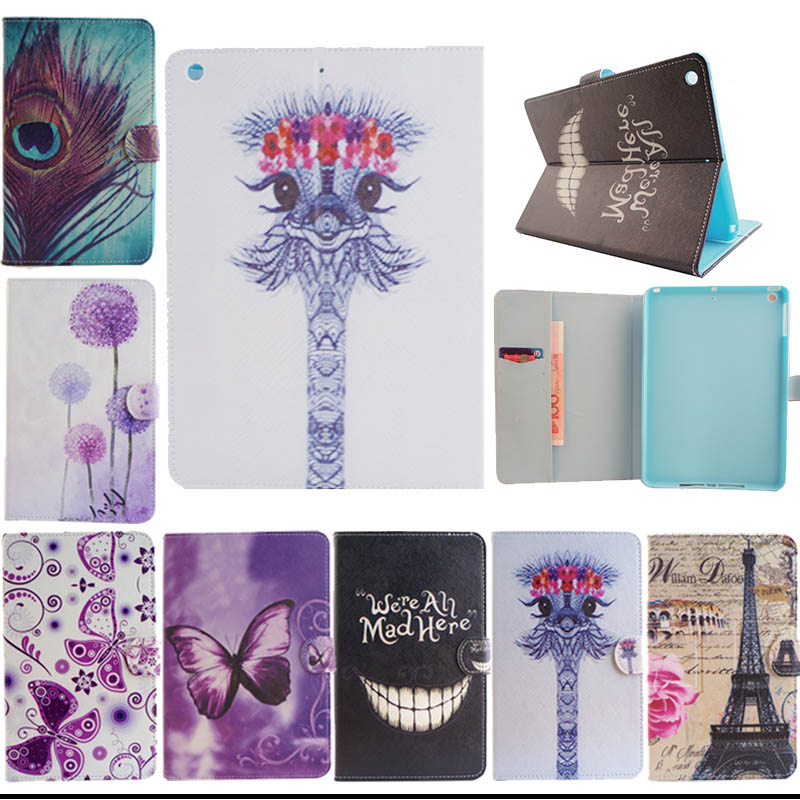 Fashion Painted Flip Leather Case cover For Apple iPad Air For iPad 5 Tablet Accessories for ipad air case leather M5555D