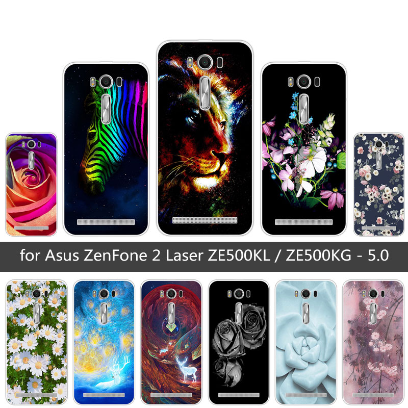for Coque ASUS ZenFone 2 Laser ZE500KL Soft Silicon Case Luxury Back Cover for Fundas Asus ZE500KL 5.0 Colored Phone Case