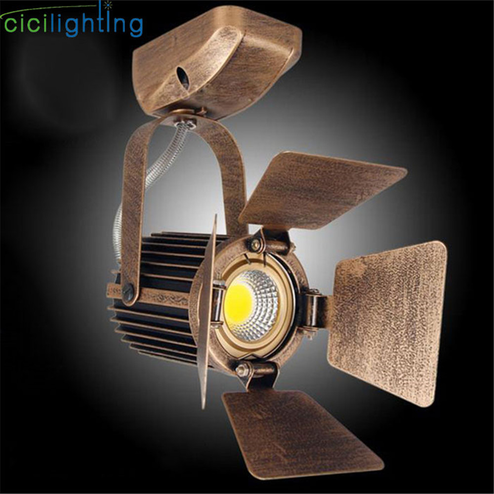 Rustic LED Spotlights 3W 5W 7W led ceiling lighting AC85-265V bronze lighting bulb for studio TV showcase showroom exhibition