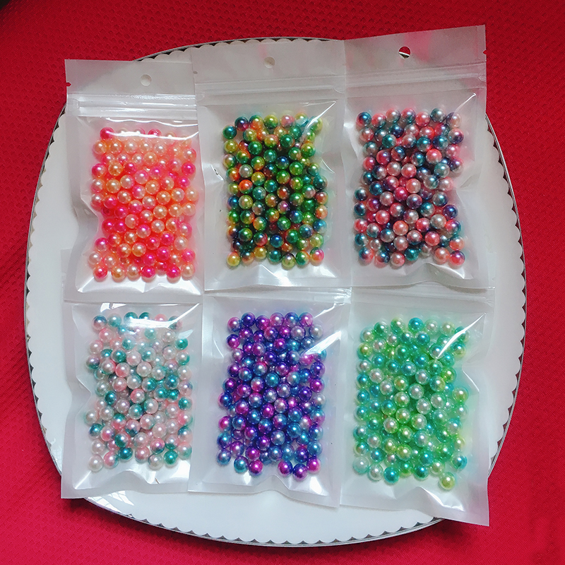 30g/Bag Children Creative Toys For Girls DIY Pearl Beads Toy Accessory Kids Girls Handmade Art Craft Educational Toys For Gifts