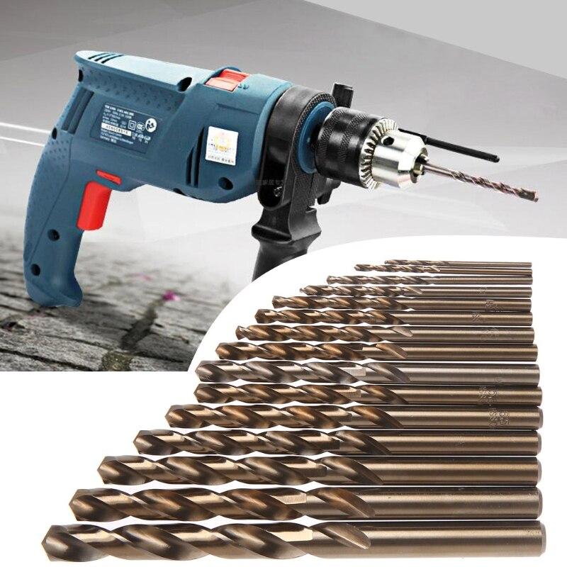 15 stücke High Speed Stahl M35 HSS Kobalt Twist Drill Bit Set 1,5-10mm Power Tools