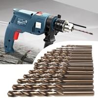 15Pcs High Speed Stahl M35 HSS Kobalt Twist Drill Bit Set 1 5 10mm Power Tools|Bohrkronen|   -