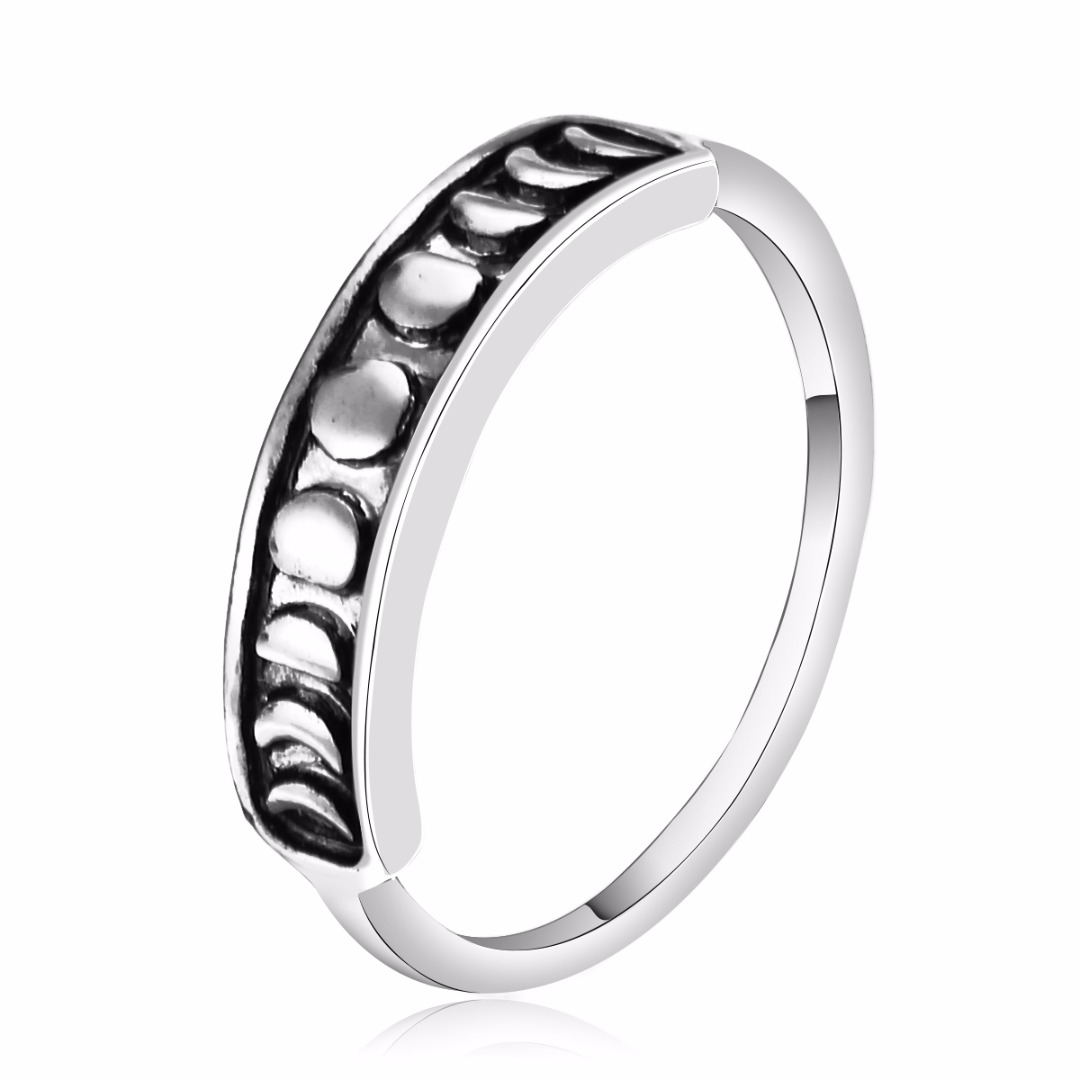 Simple Silver Plated Moon Ring Elegant Mid Finger Rings Men Women Fashion Jewelry Shellhard Female Bijoux Anillos Size 6-9