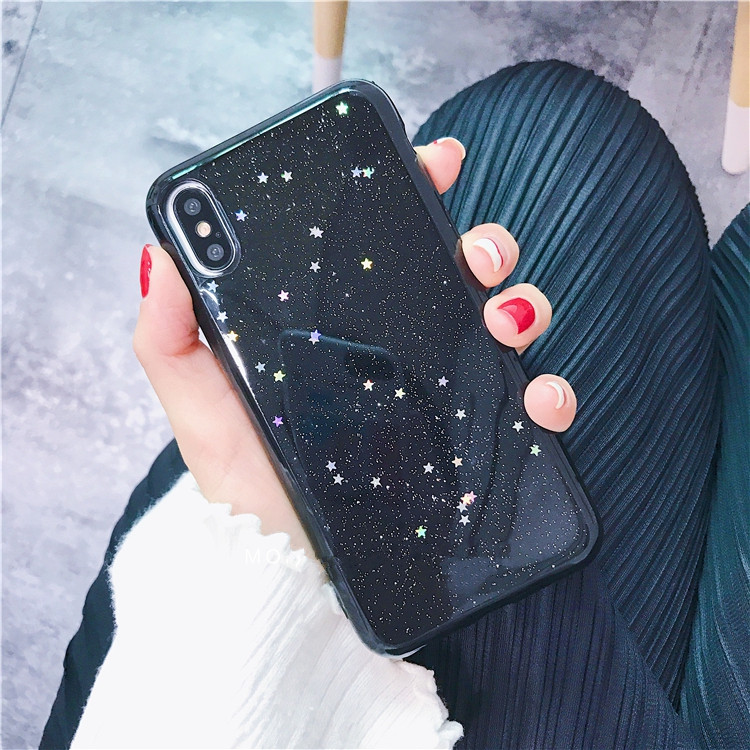 HTB1JyuAhh3IL1JjSZPfq6ArUVXas - GIMFUN Star Bling Glitter Phone Case for Iphone 11 Pro Max Clear Back Love Heart tpu Case Cover for Iphone Xr X 7 6 8 Plus 5s SE