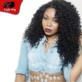 150Density Pre Plucked Natural Hairline Glueless Virgin Brazilian Front Lace Wigs Curly Full Lace Human Hair Wigs Bleached Knots