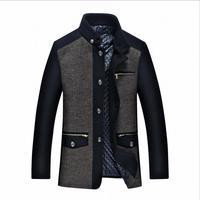 2017 yüksek kalite çok cep Ince tasarım sonbahar ceket rahat kış ceket kadife Kore ceket erkek giyim yaka M-3XL