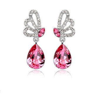Elegant Alloy With Crystal Women's Earrings 1