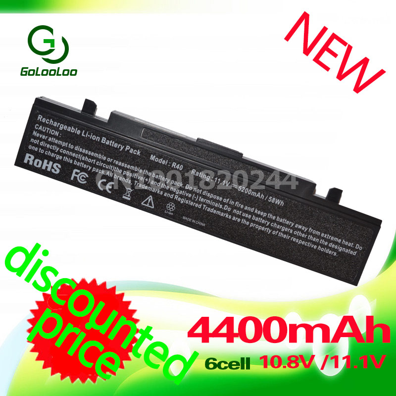 Golooloo 4400MAH 6 CELLS Laptop Battery For Samsung Pro R60 R458 R510 R460 R610 R65 R70 X360 R700 R71 R710 R40 R408 R410 R45