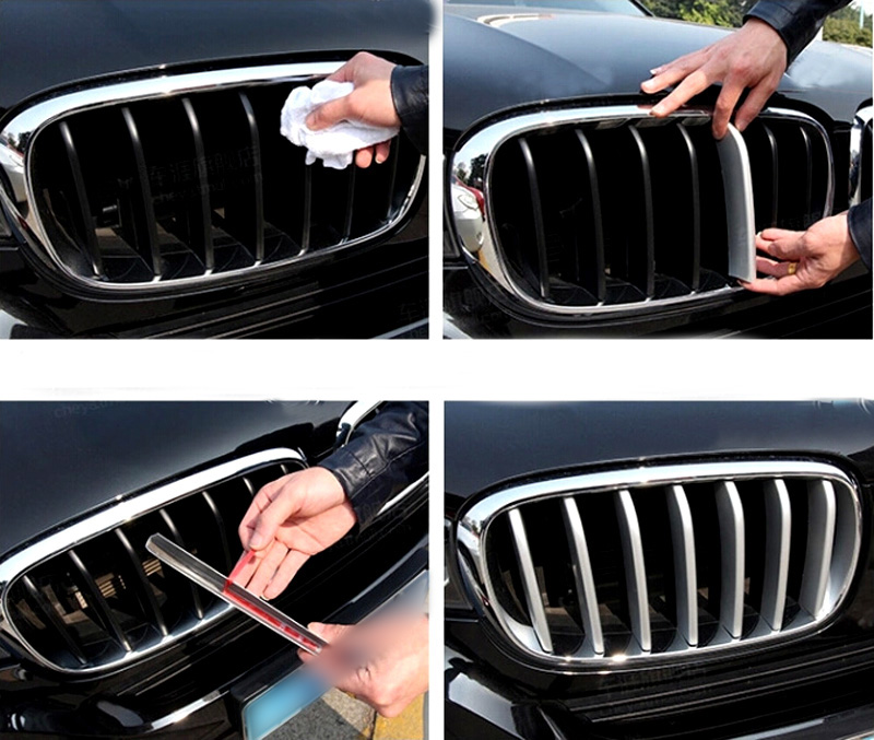 For BMW X5 F15 2014 2015 2016 ABS Chrome Front Center Grille Grill Cover Trims Matt 14pcs/set front center grille grill cover trims for toyota senna 2011 2012 2013 2014 2015