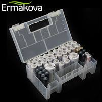 Hard Plastic Battery Case Organizer Holder Container AAA AA 9V 18650 22650 13650 Battery Card Reader