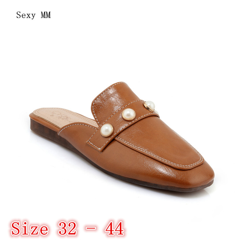 Summer Style Women Flats Sandals Slippers Woman Flat Shoes Loafers Slip-On Shoes Sandals Small Plus Size 32 33 - 40 41 42 43 44