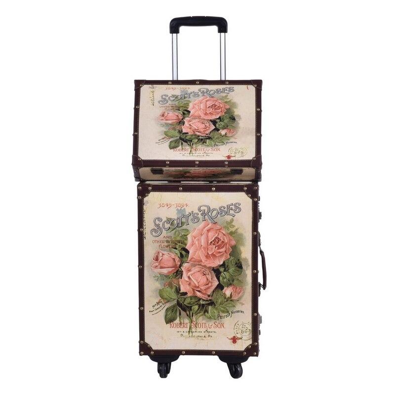PU läder retro rosor tryckt väska väska bagage - Väskor för bagage och resor - Foto 3