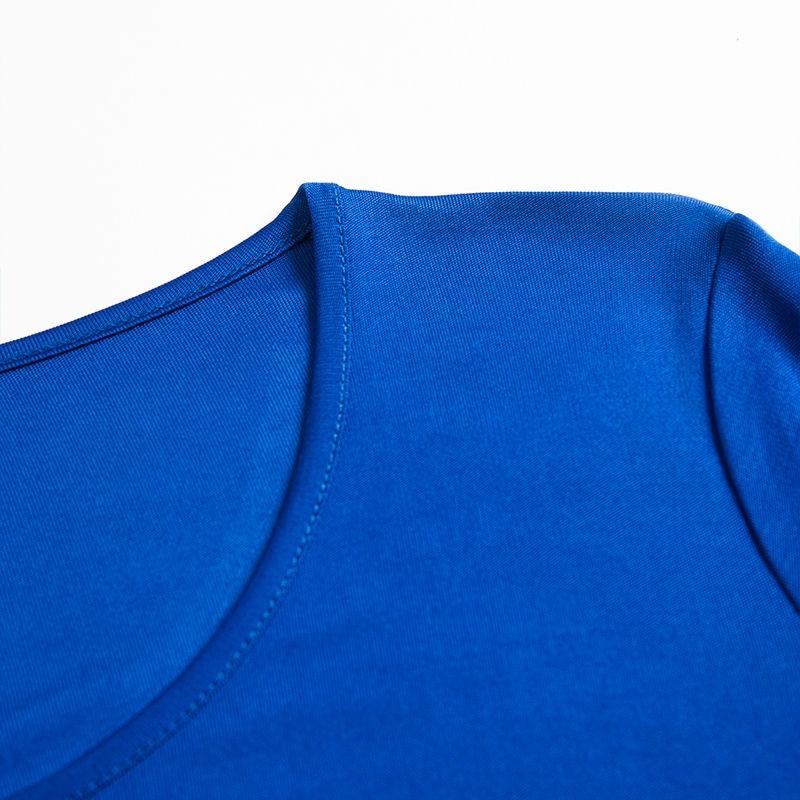 Kvinder T-shirt 100% Ægte Silke Basic O-hals Langærmet - Dametøj - Foto 3