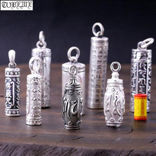 100% 990 Zilveren Boeddhistische Gebed Box Hanger Puur Zilver Tibetaanse Gau Box Hanger Echte Zilveren Tibetaanse Ghau Box Hanger