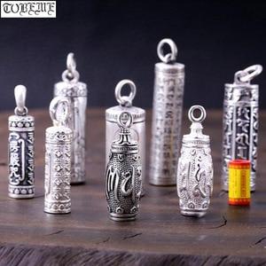 Image 1 - 100% 990 srebrny buddyjski modlitwa Box wisiorek czyste srebro tybetański Gau Box wisiorek prawdziwy srebrny tybetański Ghau Box wisiorek