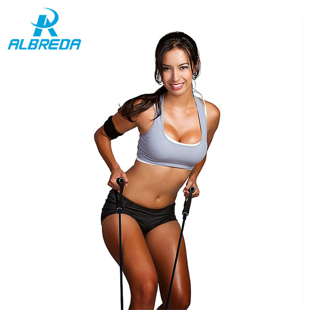 ALBREDA Tension Elastic pilate Exercise Sport Workout fitness Equipment loop Stretch expande Belt Pull Rope Resistance straps