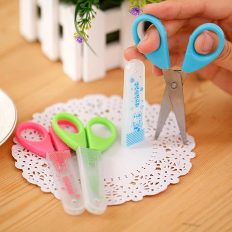 1PCS Mini Scissors Kawaii Stationery Crafts Kids DIY Plastic Scissors Student Child Craft Supplies Cute Kindergarten Supplies