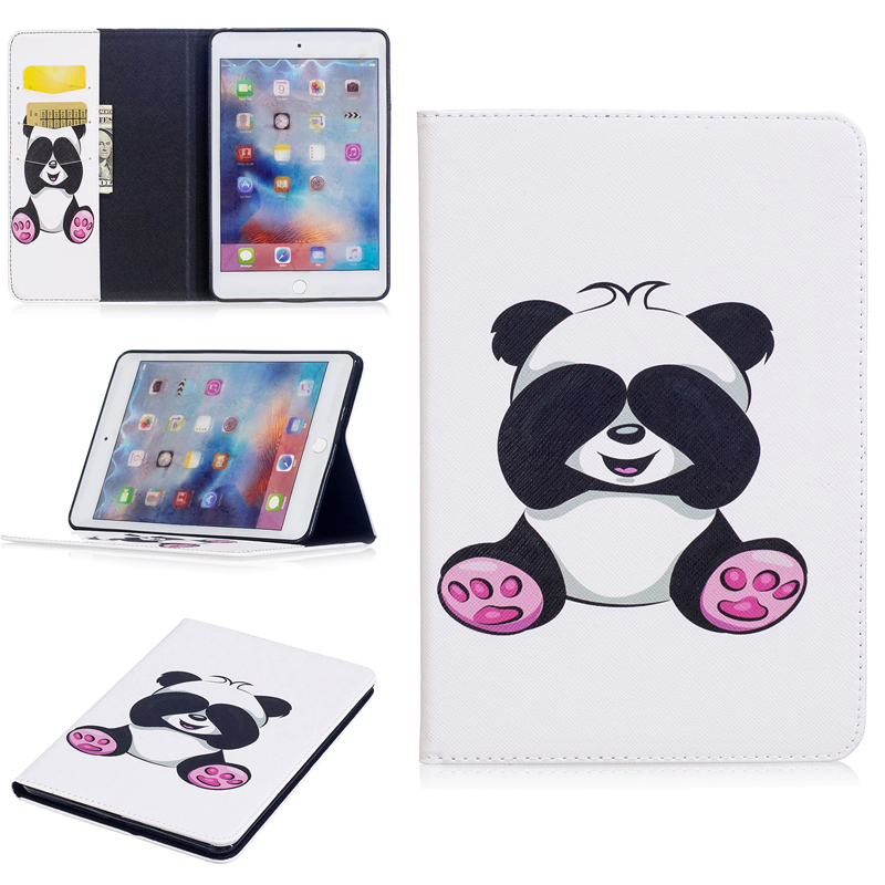 Colored Drawing PU Leather Tablet PC Cases with Kickstand For Apple iPad mini 4 7.9 Flip Tablet Cases with Wallet Card Holders