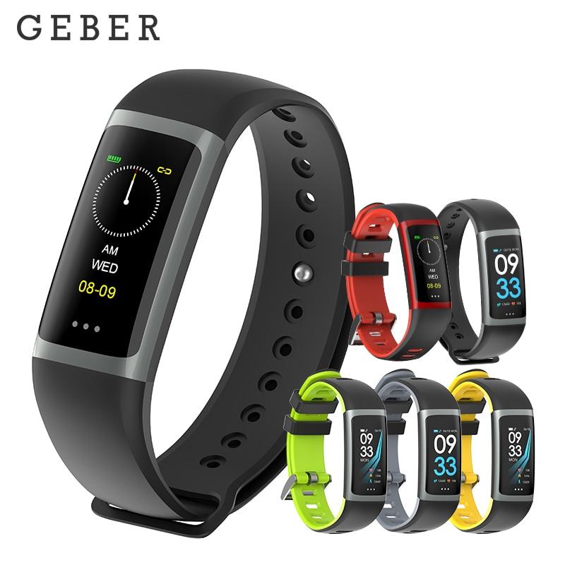 купить Geber R26 Smart Bracelet Fitness Tracker with Heart Rate Monitor Blood Pressure Blood Oxygen Monitor for iOS Android PK TEZER по цене 1654.49 рублей