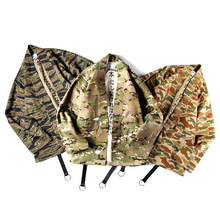 Japanese Kimono Tiger Pattern Camouflage Military Wind Robes Men's Loose Cardigan Coat Loose Ribbons