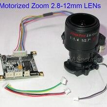 Ручная регулировка Моторизованный объектив 2,8-12 мм+ плата управления+ IRC для установки ip-камеры видеонаблюдения(не поддерживает автофокус