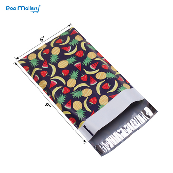 100pcs 15x23cm 6x9 inch Fruits design Poly Mailers Self Seal Plastic Envelope Bags 1