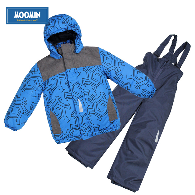 Winter Boys clothes set 2015 new Active Moomin children sport ski suit Turn-down Collar Down & Parkas Zipper pink boys outwear