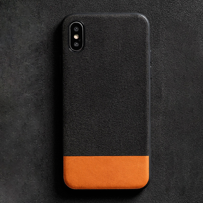 Phone Cases For iPhone 7 8 Plus X Xs Max Case Oil wax leather Stitching Suede Back Cover For iPhone 6 6S Plus 6p 7p 8p case in Fitted Cases from Cellphones Telecommunications