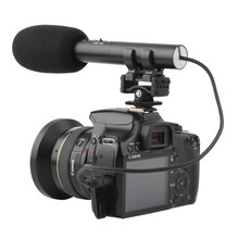 iShoot PL-MIC02 DC/DV Stereo Microphone MIC for Canon Nikon Sony Hot Shoe Digital SLR Camera Video Camcorder
