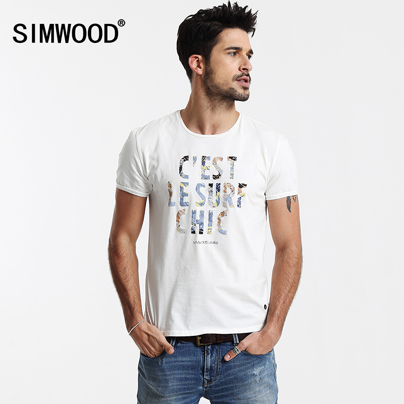 2016 New Arrival Simwood Brand Clothing Men T-shirts