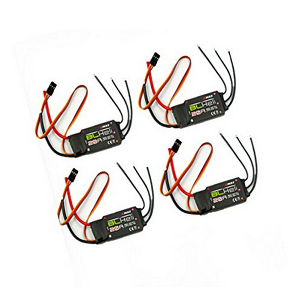 F16739 4 4 PCS Emax BLHeli firmware 20A ESC Speed Controller 2A 5V BEC for RC Multirotor Quadcopter 2 4s LiPo in Parts Accessories from Toys Hobbies