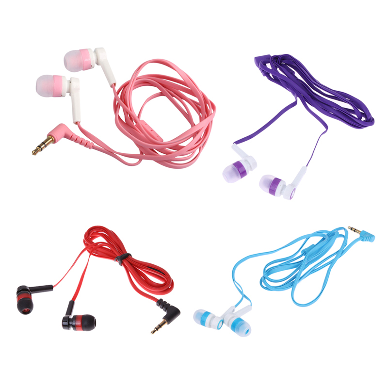3.5mm In-Ear Earphone Candy Color Earphones Symmetric Flat Cable Versatile Earbuds for mobile phone PC Laptop mp3 CD player 610 flat cable universal in ear earphones for cellphone tablet pc red 3 5mm plug 120cm cable