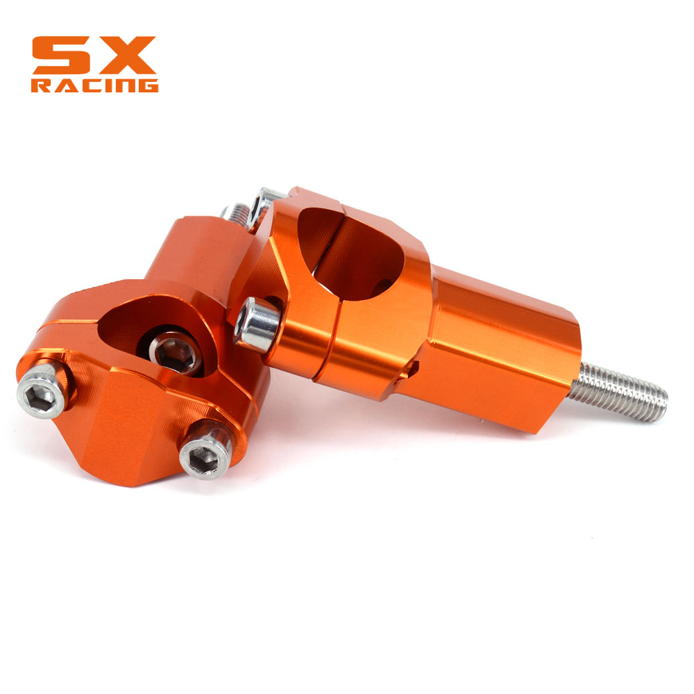Motorbike 28MM Clamp Handle Bar Risers Mounts Higher 21MM For KTM SX SXF EXC XCW XCFW EXCF 125-530 2000-2016 Dirt Bike