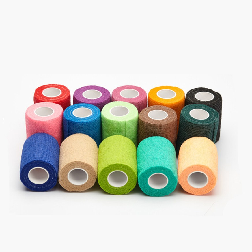 4.5M Sport Tape Nonwoven Waterproof Self Adhesive Elastic Bandage   Protection Wrap Stretch Tape For Finger Wrist Ankle
