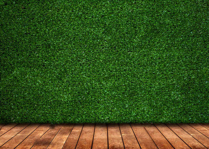 Зеленый трава стена Фотофон с изображением деревянного пола задний фон для