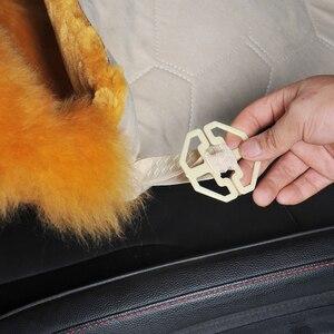 Image 5 - אוסטרלי טהור טבעי צמר מושב כיסוי עבור קדמי מושב חורף כרית מכונית באיכות גבוהה 100% אמיתי צמר כבש מושב מכסה