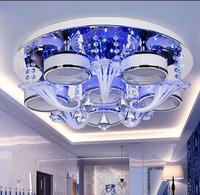 Роскошный Crystal потолочное Творческий Гостиная Спальня вилла свет Железный 3/6/9 глава Потолочные светильники дистанционного управления 6 вид
