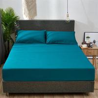 Solid Color High Quality Bedsheets 100% Cotton Bedsheet Queen King Full Twin Size Bed Sheets Sabanas Fitted Sheet Bed Sheets