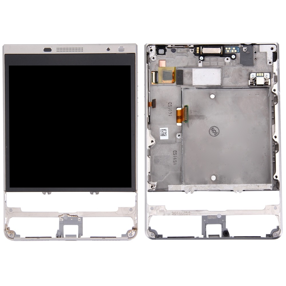 LCD Screen and Digitizer Full Assembly with Frame for BlackBerry Passport Silver EditionLCD Screen and Digitizer Full Assembly with Frame for BlackBerry Passport Silver Edition
